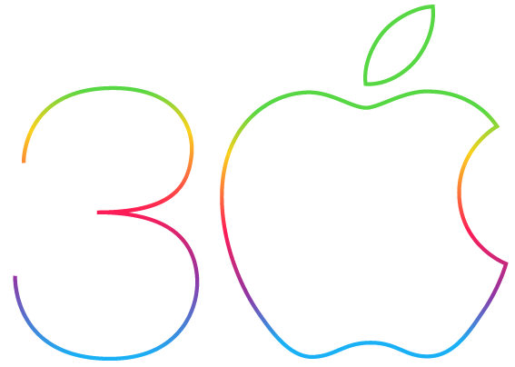 apple-30-anniv-logo